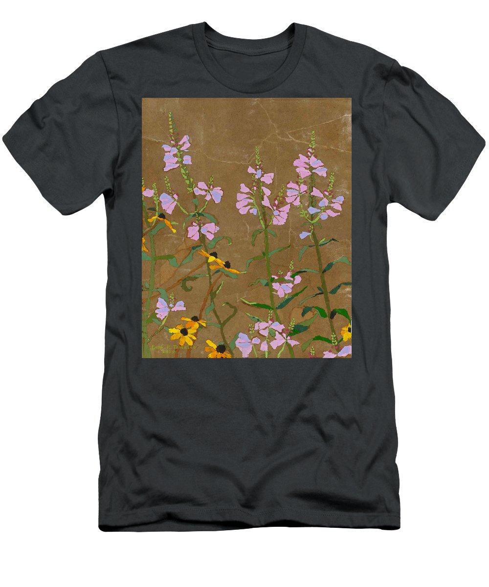 Floral T-Shirt featuring the painting For Jack From Woodstock by Leah Tomaino