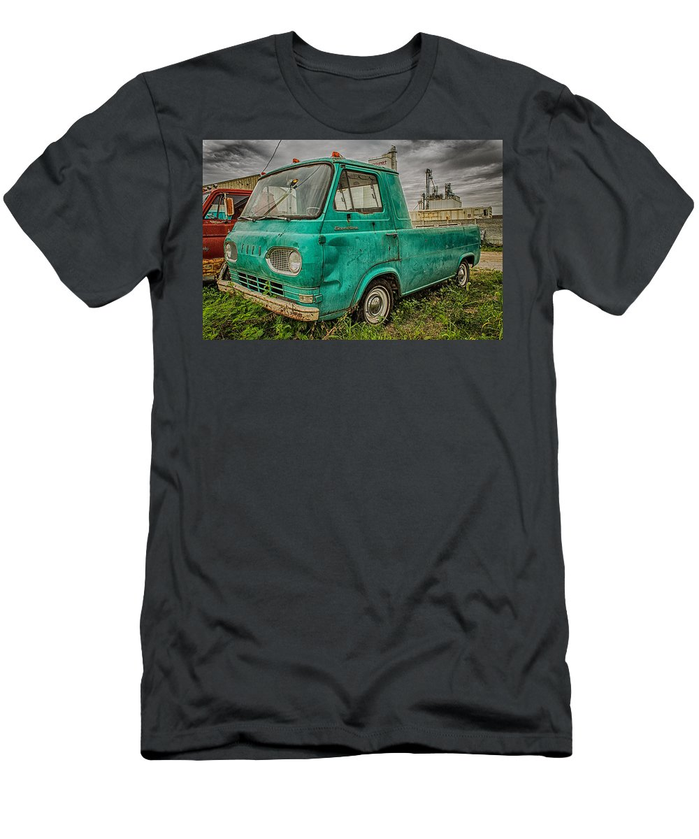 Truck Men's T-Shirt (Athletic Fit) featuring the photograph Ford Econoline Pickup by Ken Kobe