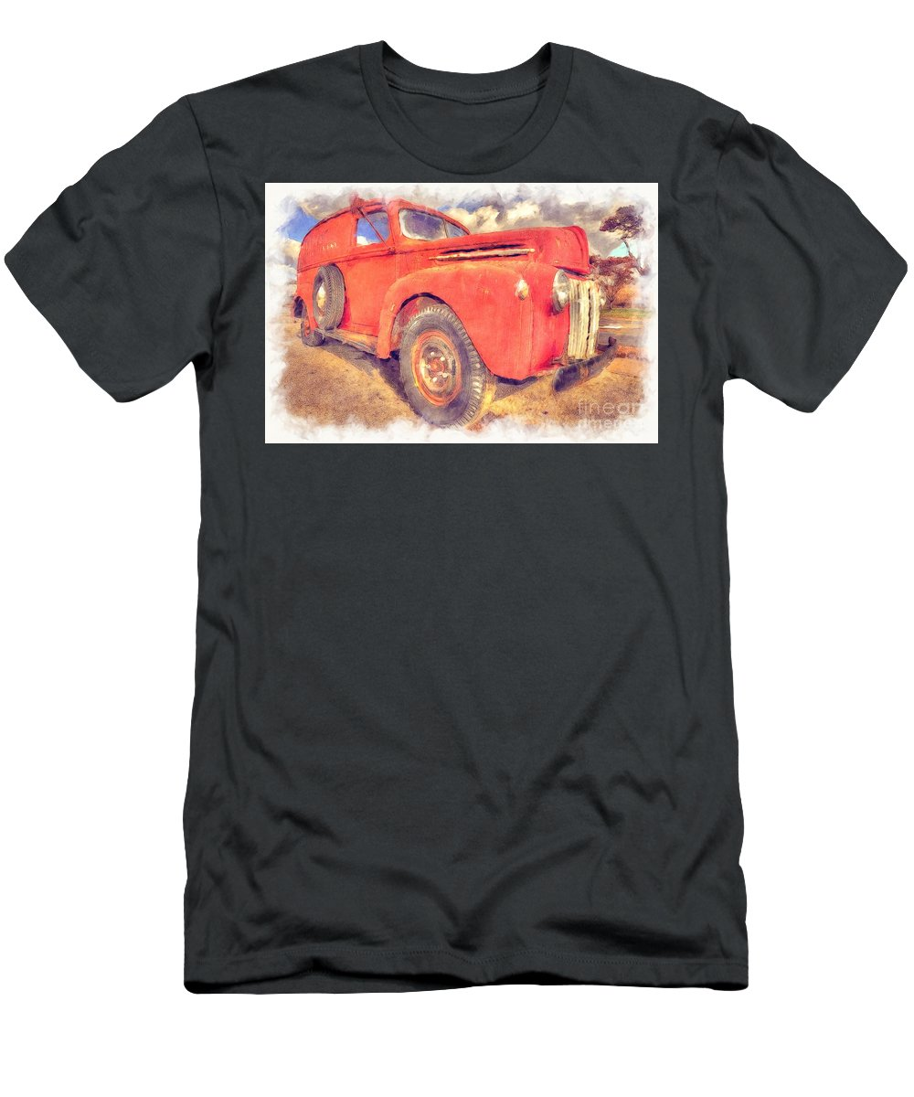 American Men's T-Shirt (Athletic Fit) featuring the photograph Ford Panel Truck by Liane Wright
