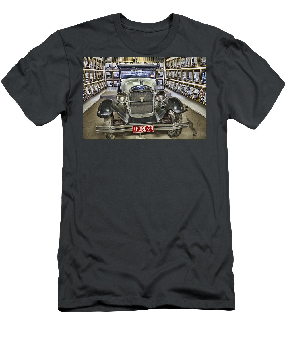 Vintage Ford Men's T-Shirt (Athletic Fit) featuring the photograph Ford Vintage 29 by Douglas Barnard