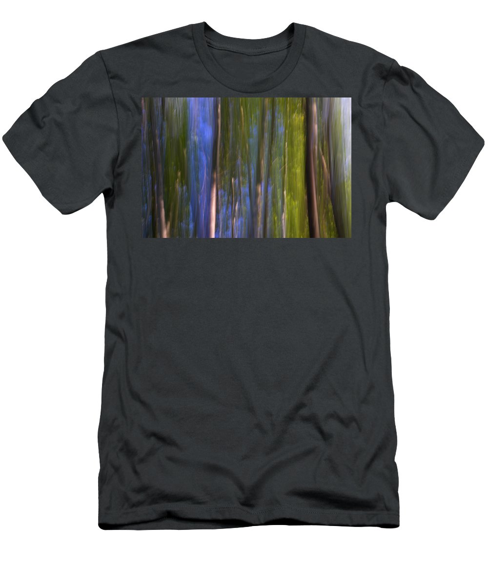 Abstracts Men's T-Shirt (Athletic Fit) featuring the photograph Forest Dreams by Guido Montanes Castillo