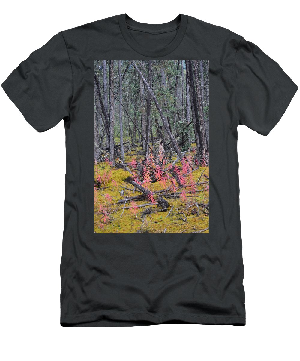 Forest Men's T-Shirt (Athletic Fit) featuring the photograph Forest Fire by Brian Boyle