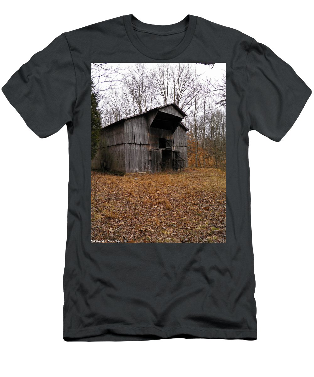 Barn Men's T-Shirt (Athletic Fit) featuring the photograph Forgotten Barn by Nick Kirby