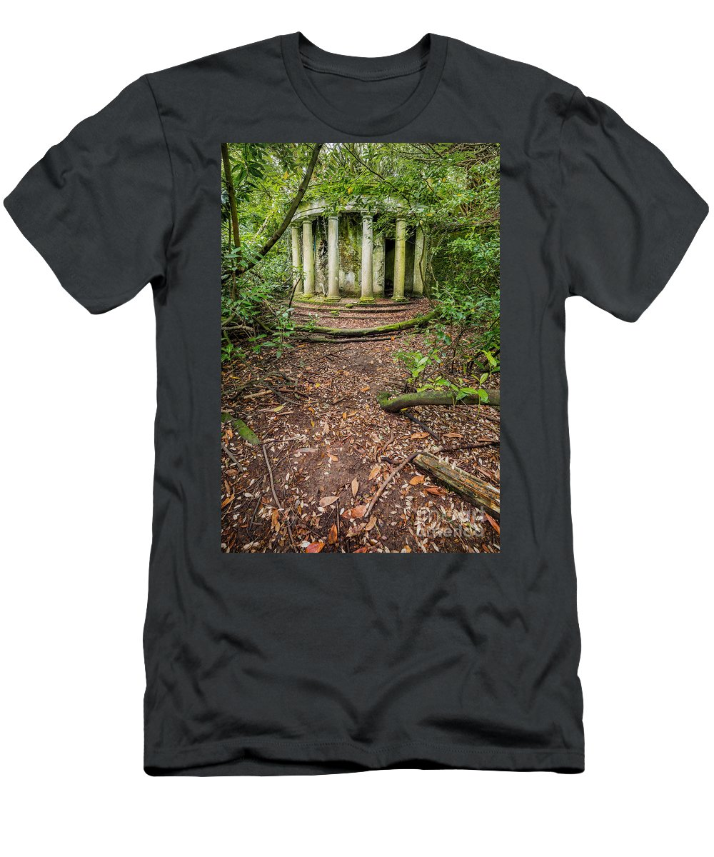 Victorian Men's T-Shirt (Athletic Fit) featuring the photograph Forgotten Folly by Adrian Evans