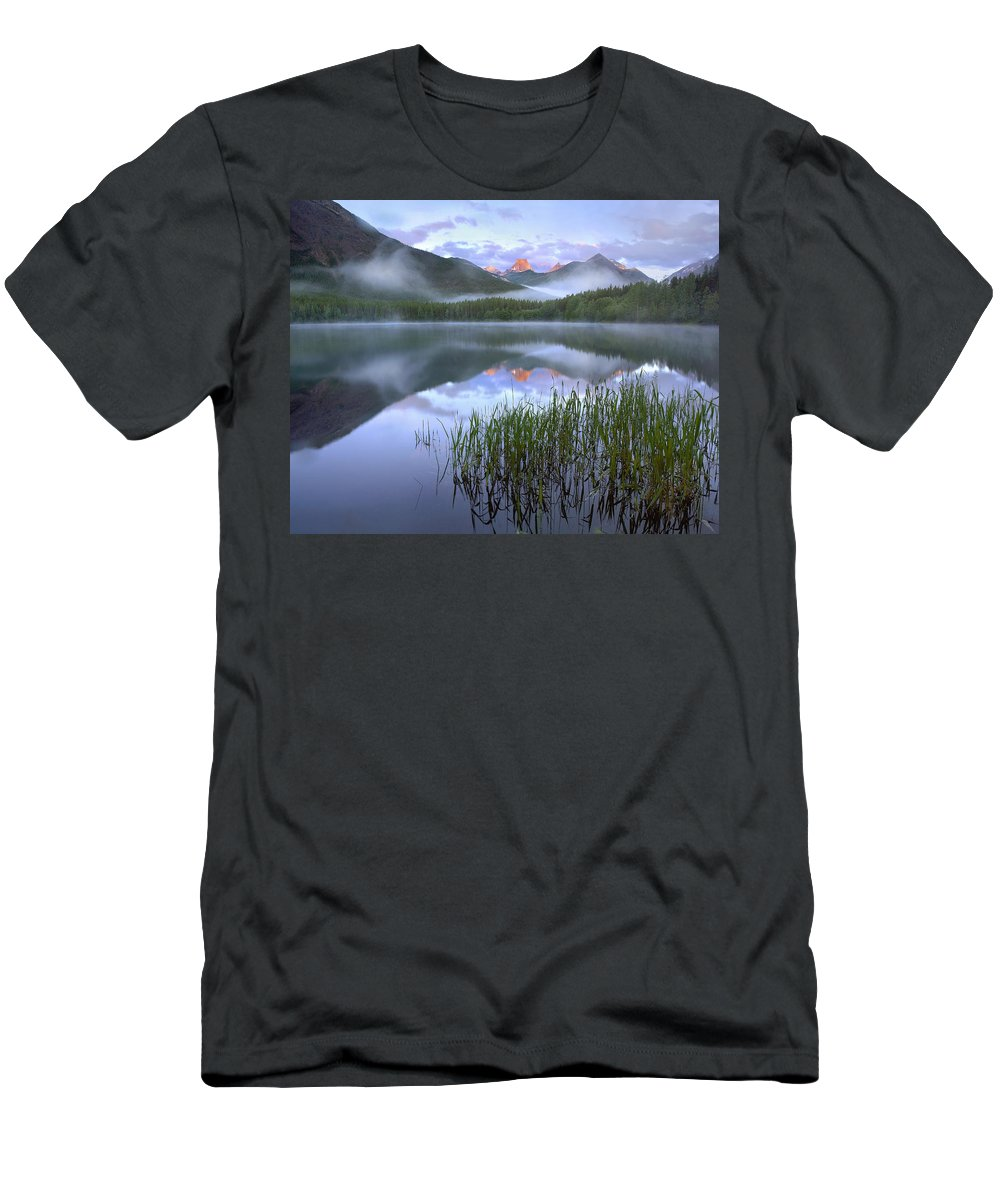 Feb0514 Men's T-Shirt (Athletic Fit) featuring the photograph Fortress Mountain Alberta Canada by Tim Fitzharris