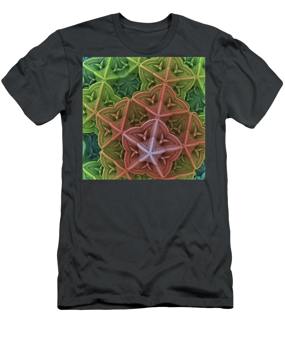 Fractal Men's T-Shirt (Athletic Fit) featuring the digital art Fractal Starfish by Lyle Hatch