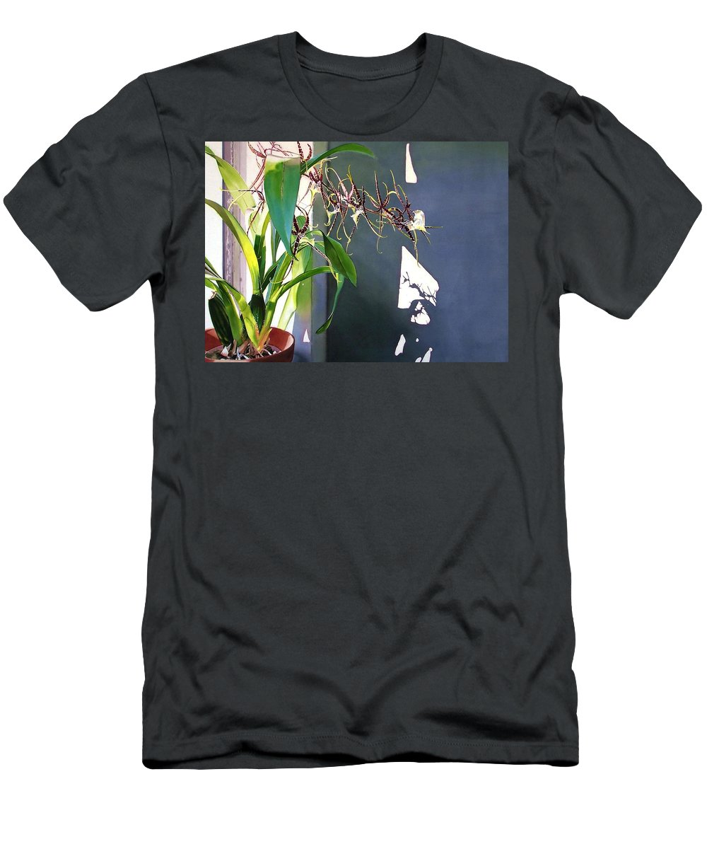 Plant Men's T-Shirt (Athletic Fit) featuring the painting Frailty by Denny Bond