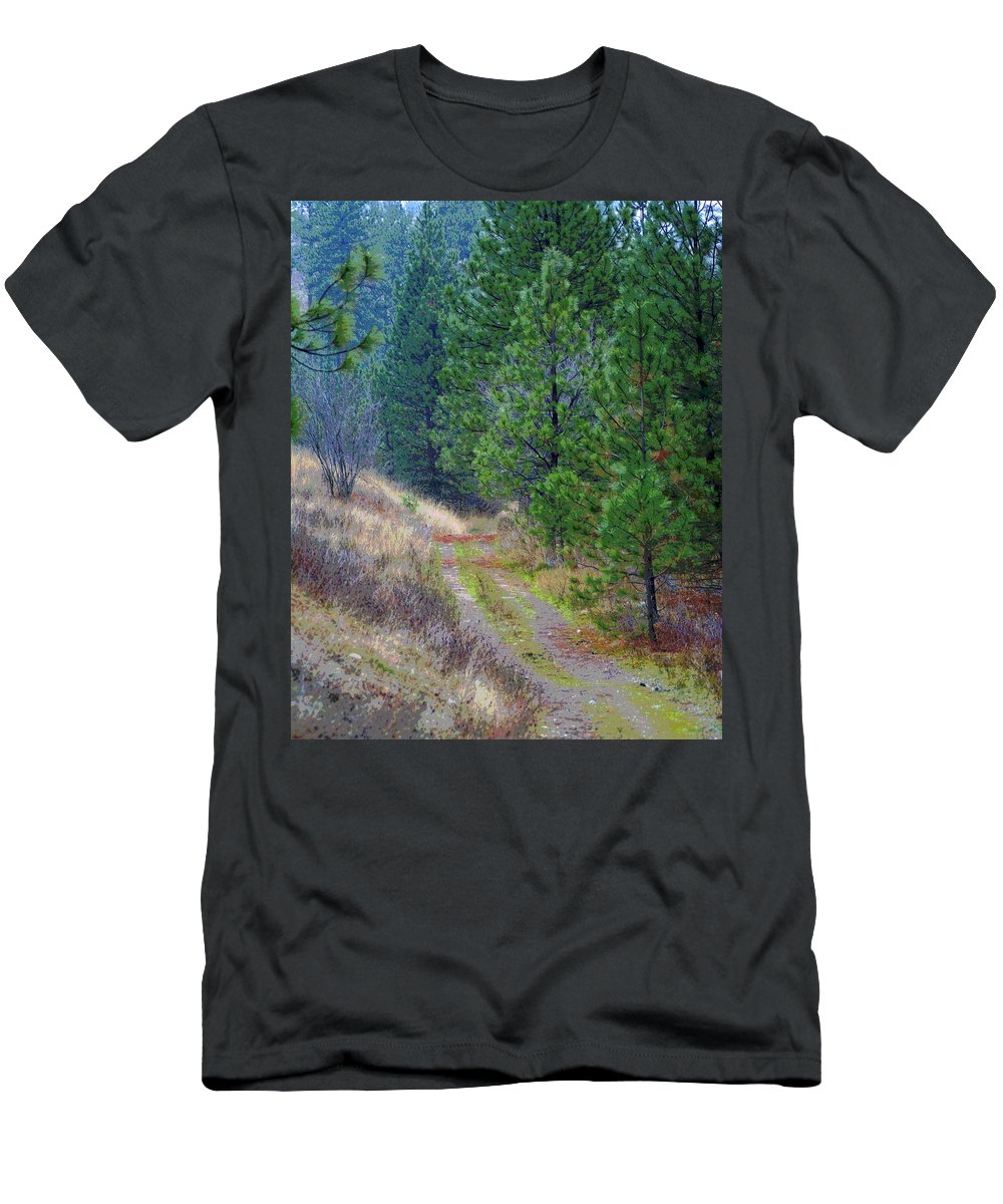 Country Road Men's T-Shirt (Athletic Fit) featuring the photograph Freedom Road by Ben Upham III