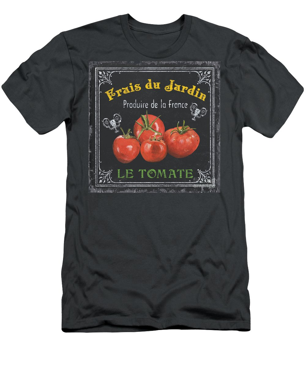 Vegetables Men's T-Shirt (Athletic Fit) featuring the painting French Vegetables 1 by Debbie DeWitt