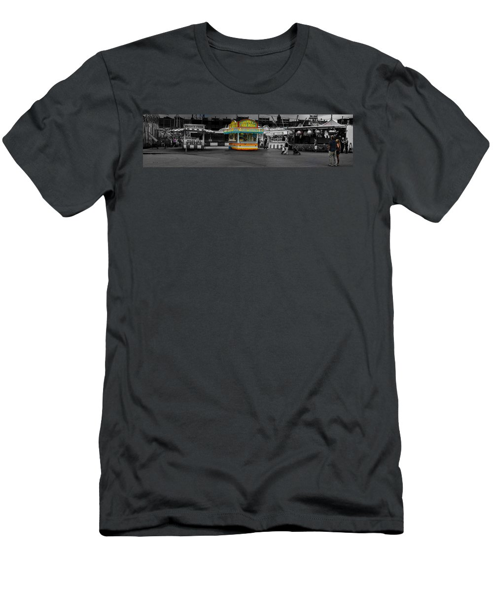 Panorama Men's T-Shirt (Athletic Fit) featuring the photograph Fried Dough by Bob Orsillo