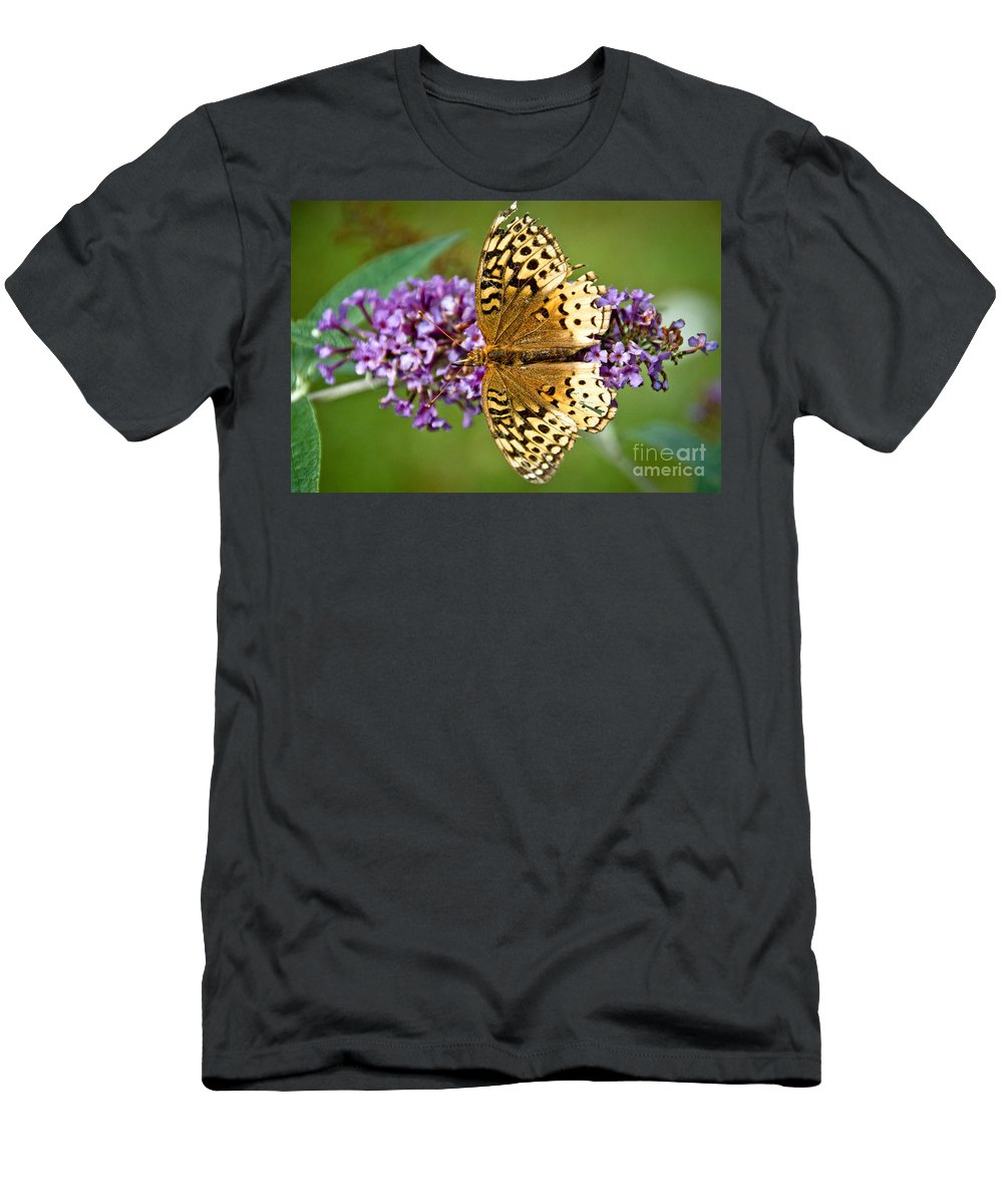 Men's T-Shirt (Athletic Fit) featuring the photograph From Above by Cheryl Baxter