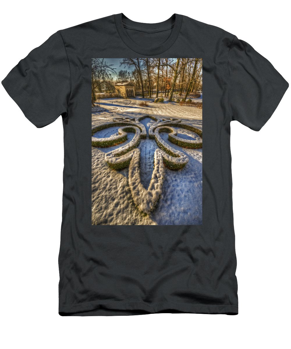 Background Men's T-Shirt (Athletic Fit) featuring the digital art Frozen Garden by Nathan Wright