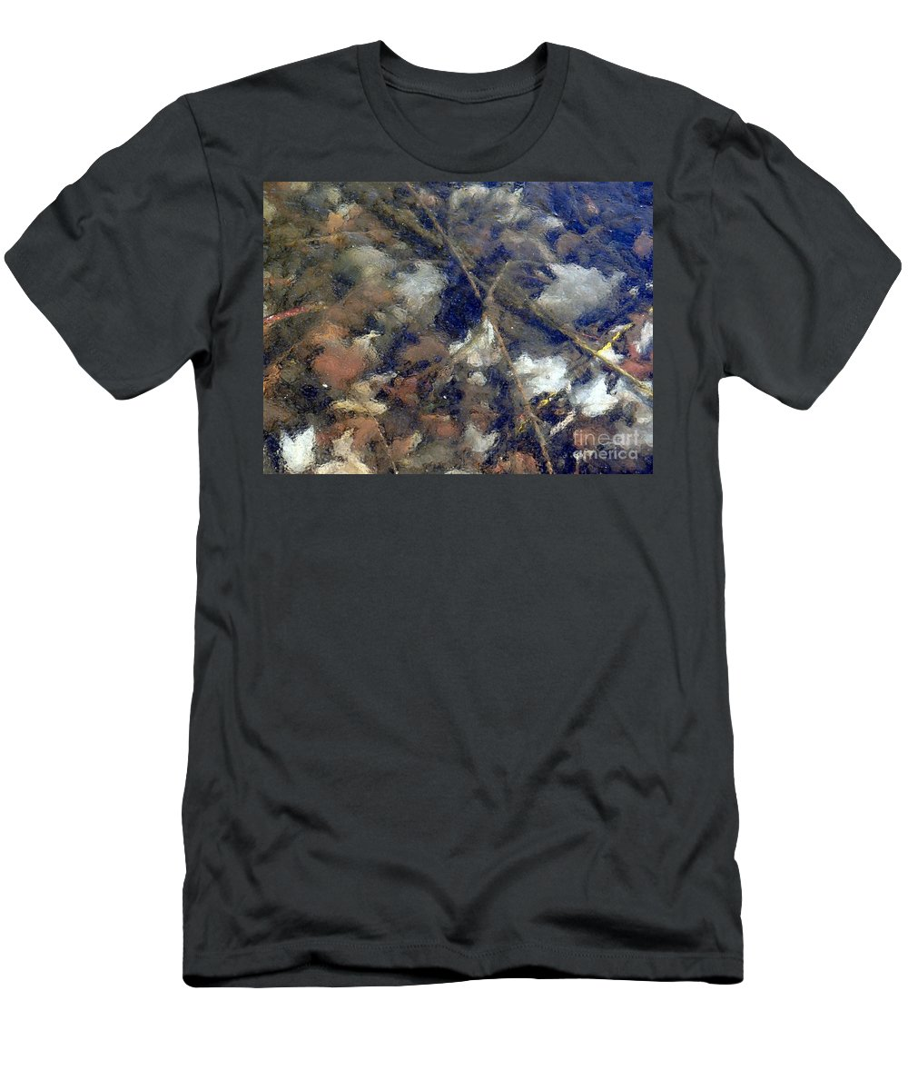 Leaves Men's T-Shirt (Athletic Fit) featuring the photograph Frozen In Time by Ed Weidman