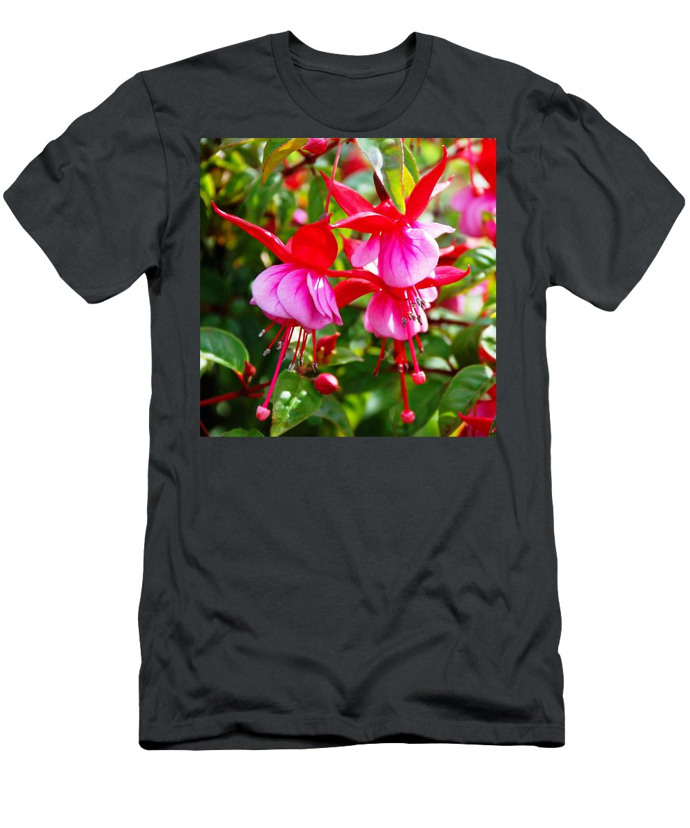 Vivid Men's T-Shirt (Athletic Fit) featuring the photograph Fuchsia by Charlie and Norma Brock