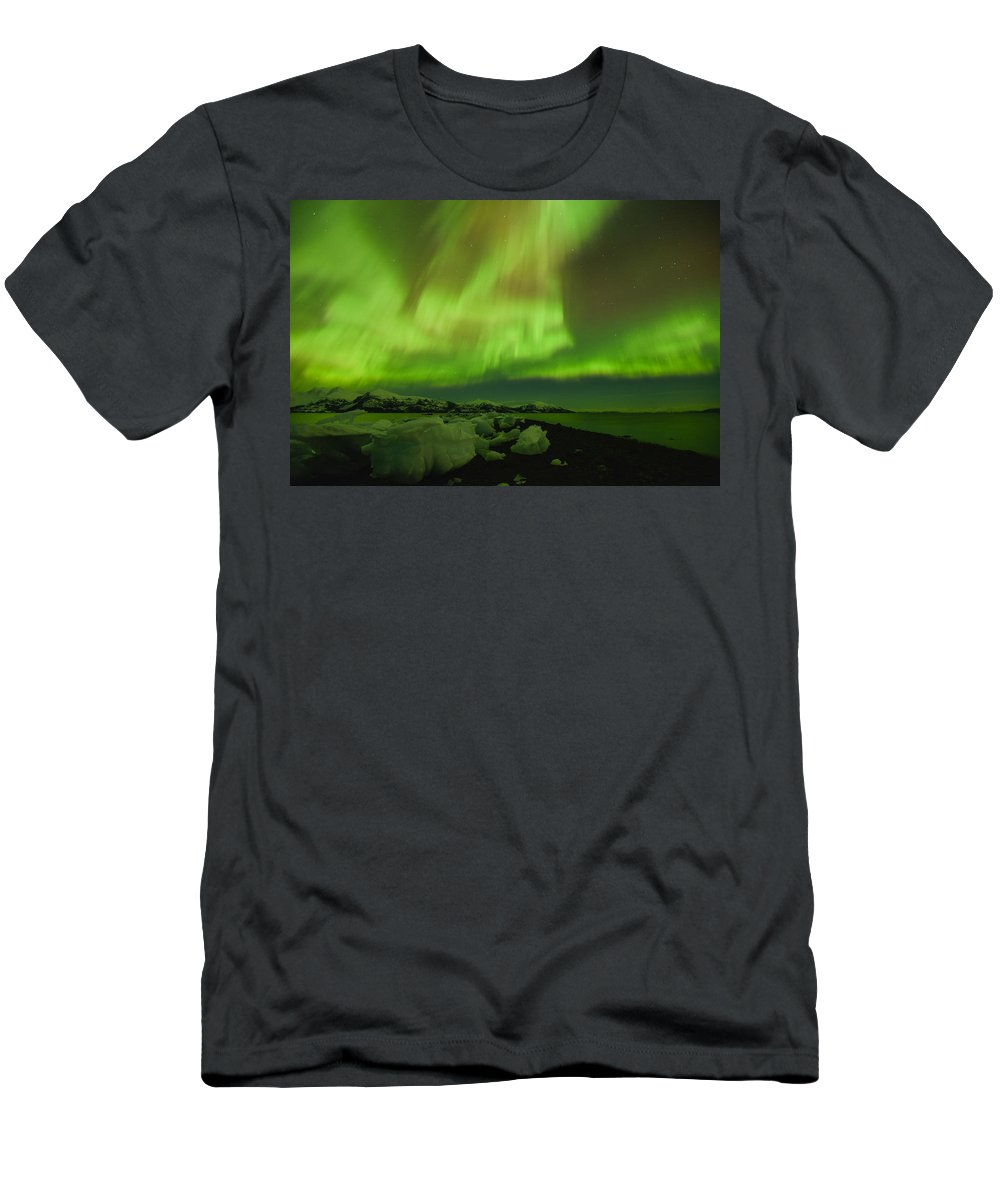 Aurora Men's T-Shirt (Athletic Fit) featuring the photograph Full Power by Ted Raynor