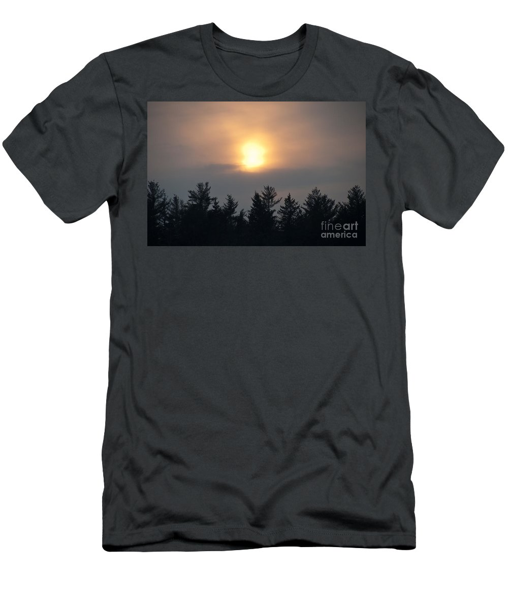 Sunsets Men's T-Shirt (Athletic Fit) featuring the photograph Funky Sun by Cheryl Baxter