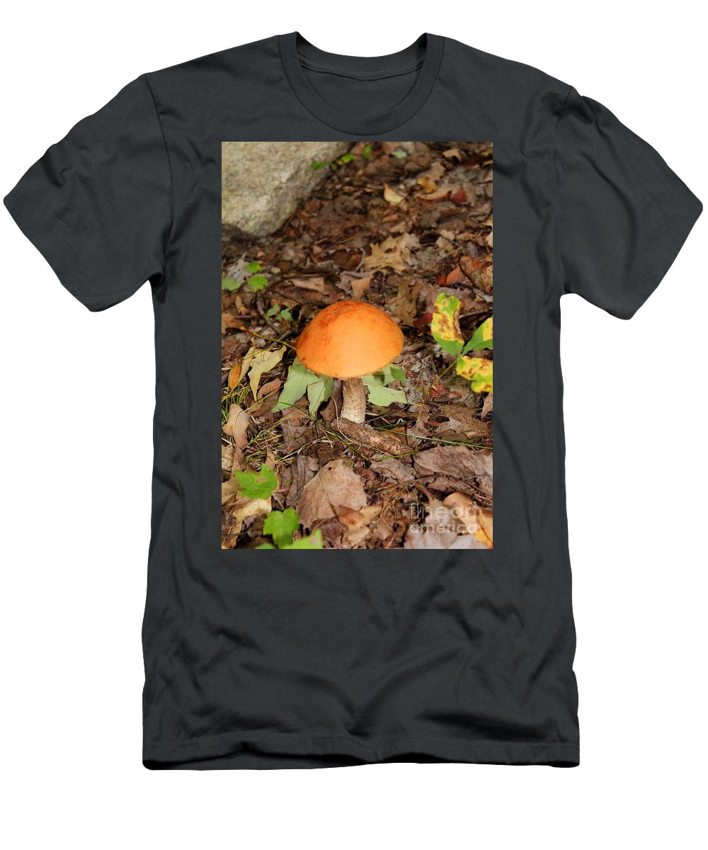 Fungus Men's T-Shirt (Athletic Fit) featuring the photograph Galerina Marginata by Stephanie Kripa