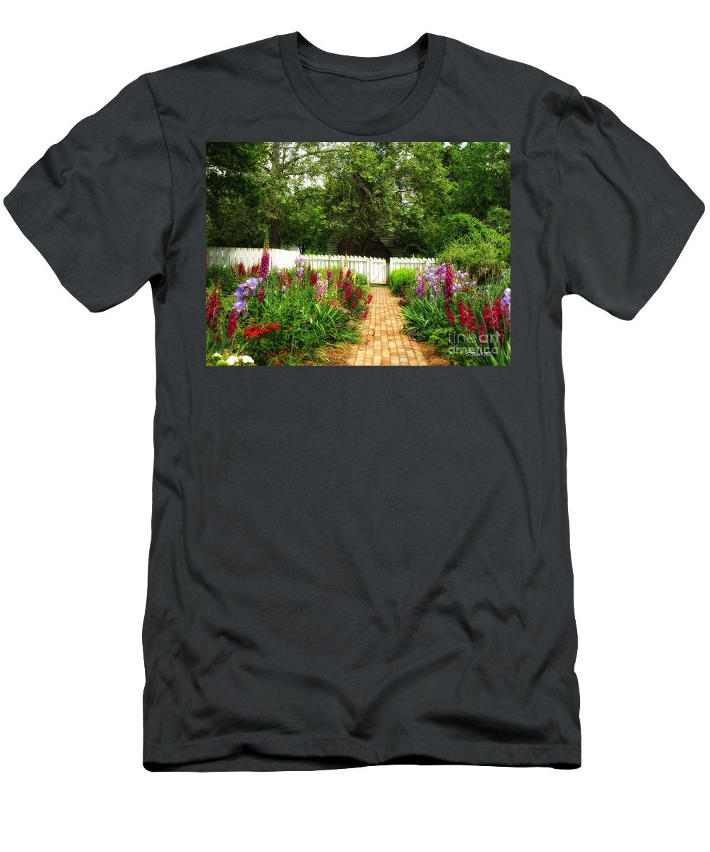 Garden Men's T-Shirt (Athletic Fit) featuring the photograph Garden Path by Shari Nees