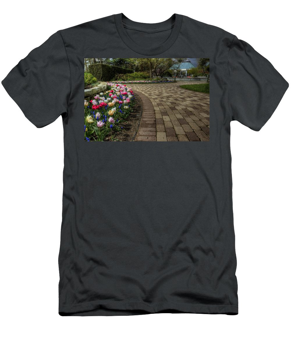 Gardens Men's T-Shirt (Athletic Fit) featuring the photograph Gardens In The Park by David Dufresne