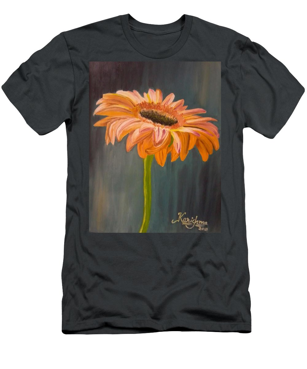 Daisy Men's T-Shirt (Athletic Fit) featuring the painting Gerbera by KarishmaticArt -Karishma Desai