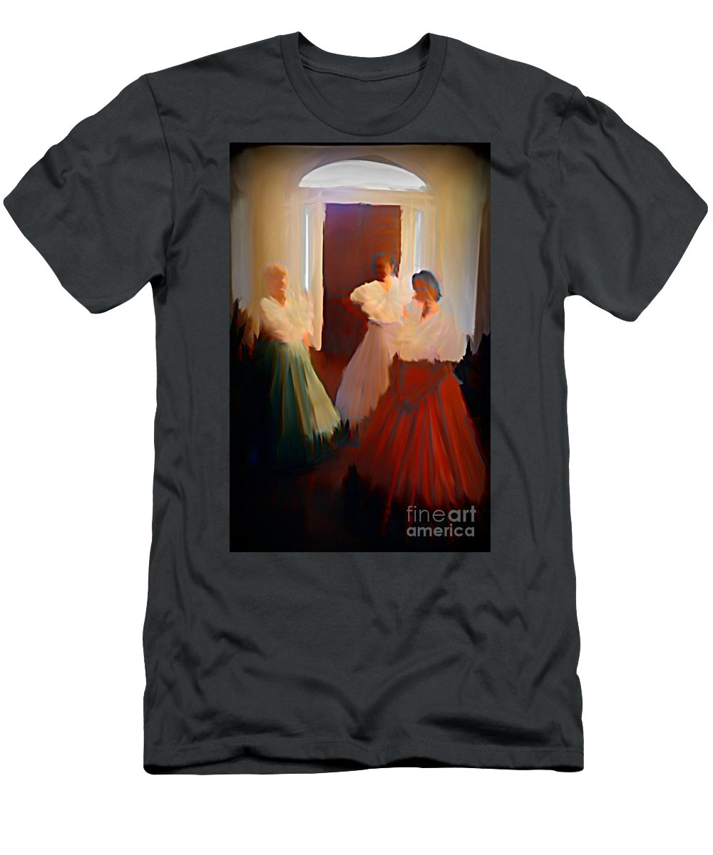 Ghosts Of A Louisianna Plantation Men's T-Shirt (Athletic Fit) featuring the digital art Ghosts Of A Louisianna Plantation by John Malone