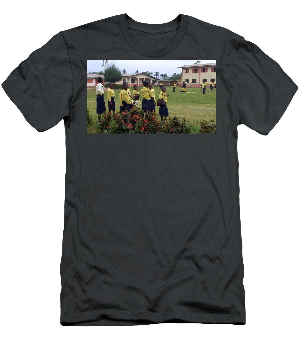 Nigeria Men's T-Shirt (Athletic Fit) featuring the photograph Girls On Field Day by Amy Hosp