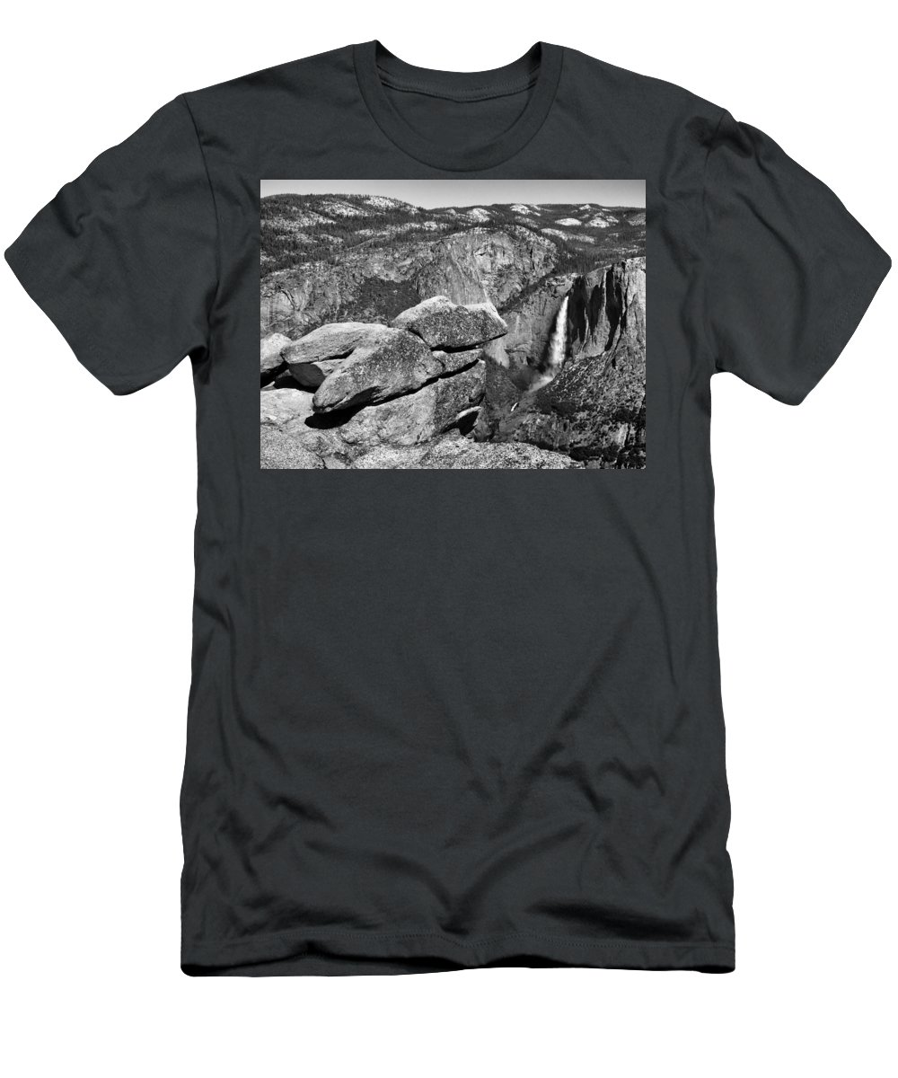 Landscape Men's T-Shirt (Athletic Fit) featuring the photograph Glacier Point Nw by David Beebe