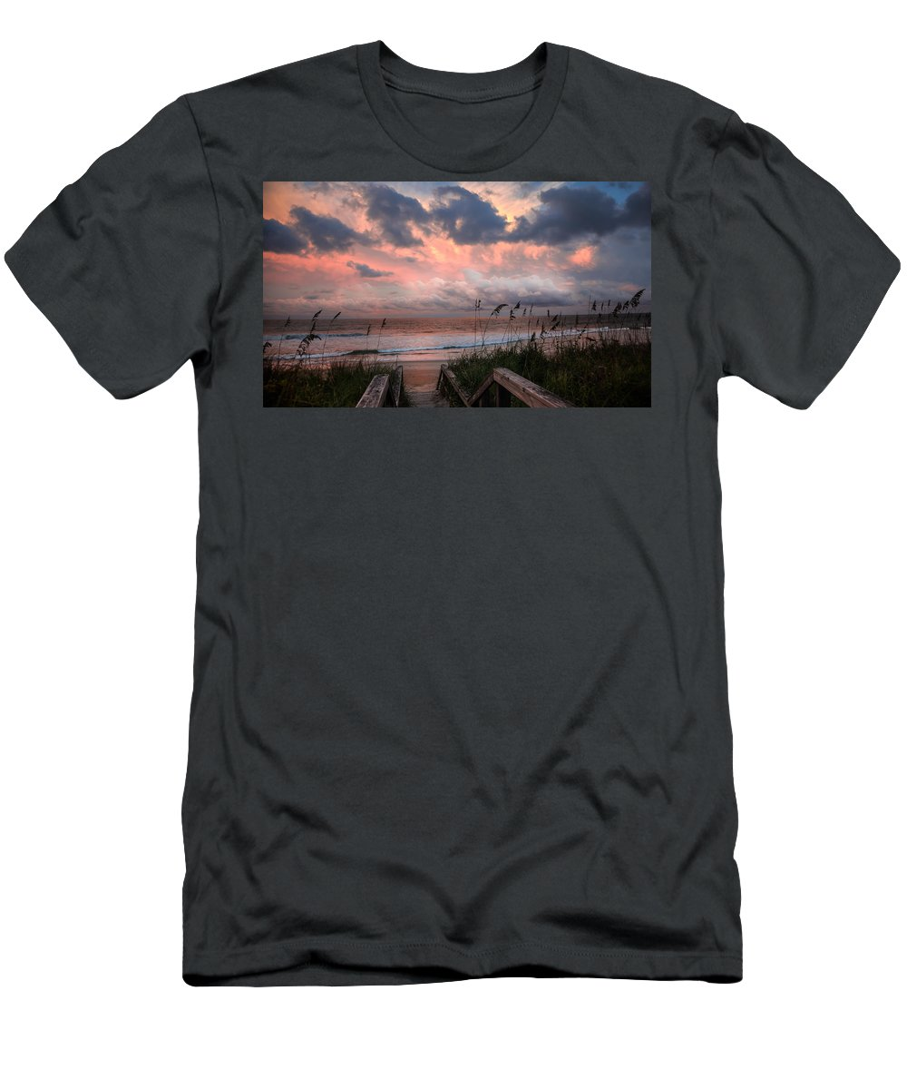 Dawn Men's T-Shirt (Athletic Fit) featuring the photograph Glory Of Dawn by Karen Wiles