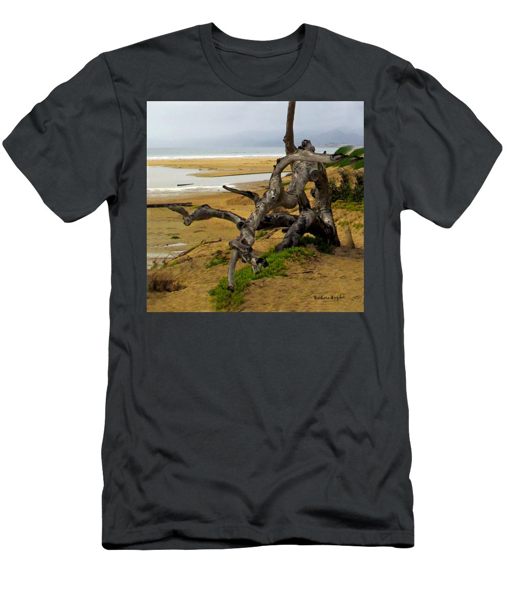 Gnarly Tree Men's T-Shirt (Athletic Fit) featuring the digital art Gnarly Tree by Barbara Snyder