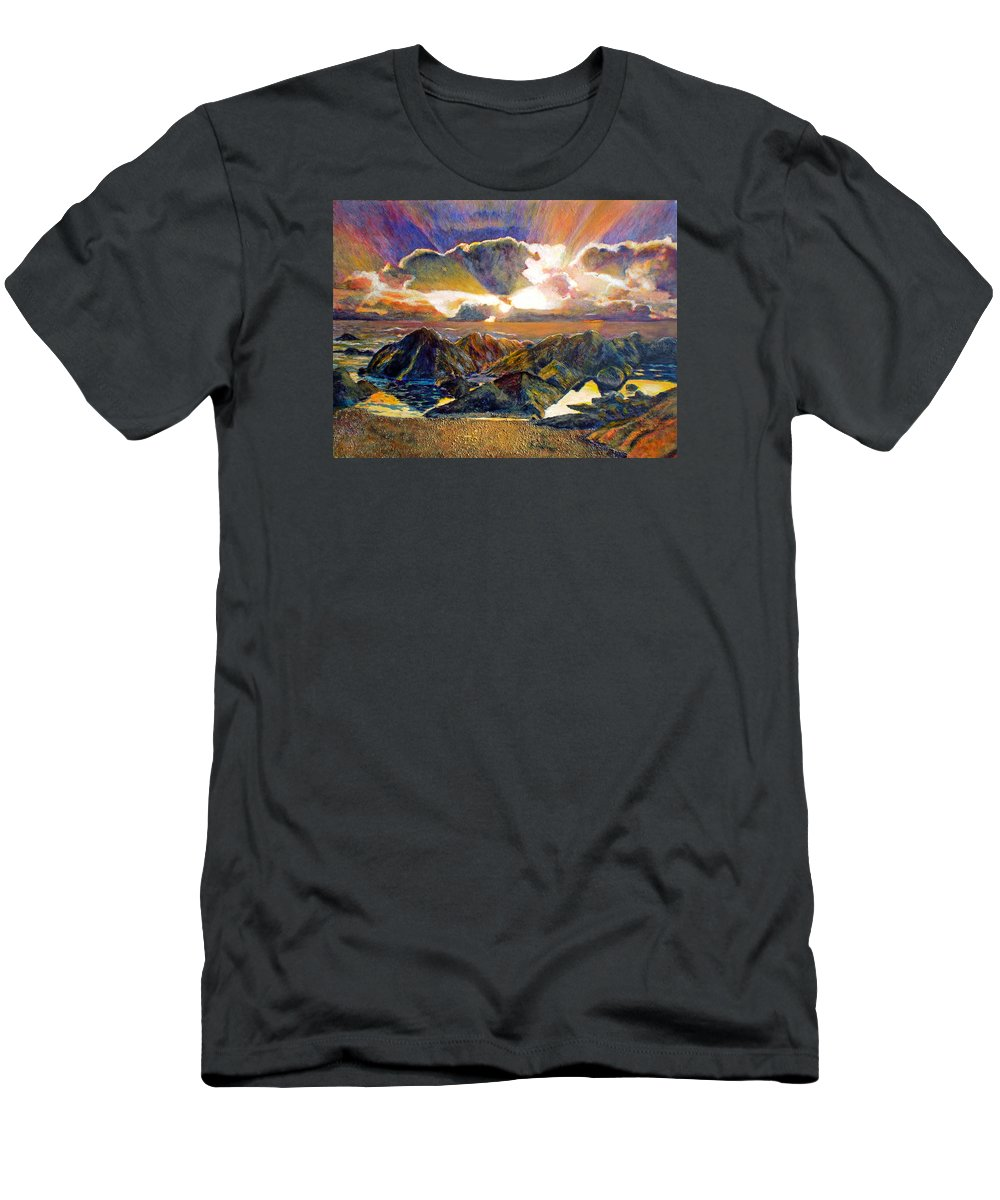 Seascape Men's T-Shirt (Athletic Fit) featuring the painting God Speaking by Michael Durst