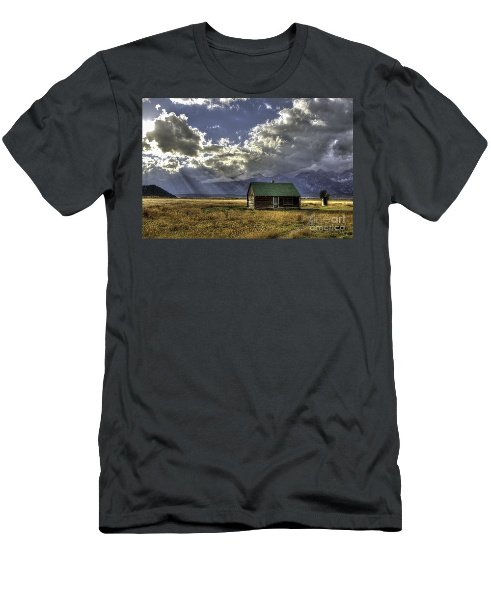 Gods Country Men's T-Shirt (Athletic Fit) featuring the photograph God's Country by Gary Holmes