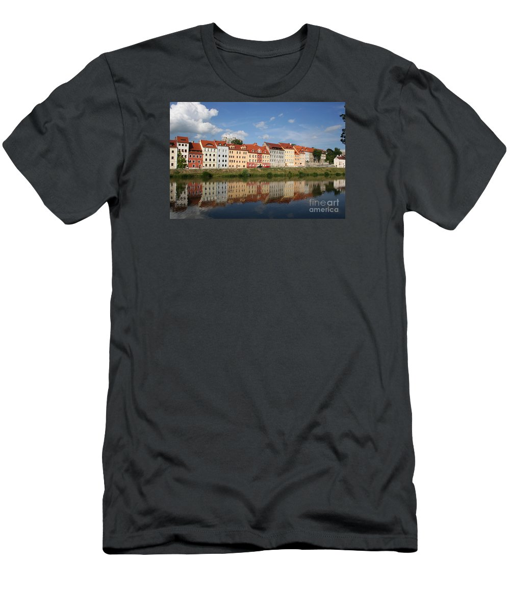 Row Of Houses Men's T-Shirt (Athletic Fit) featuring the photograph Goerlitz Germany by Christiane Schulze Art And Photography