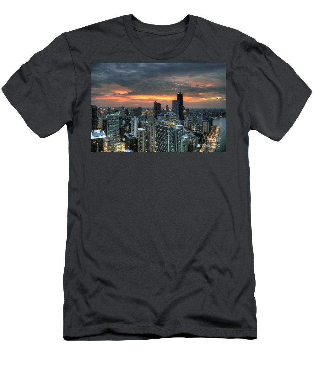 Canon Men's T-Shirt (Athletic Fit) featuring the photograph Gold Coast Sunset by Steven K Sembach