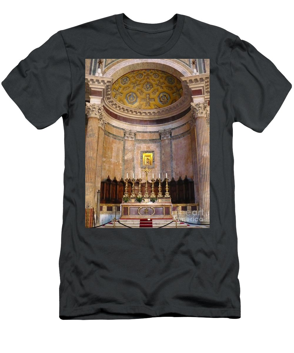 Pantheon Men's T-Shirt (Athletic Fit) featuring the photograph Golden Pantheon Altar by Carol Groenen