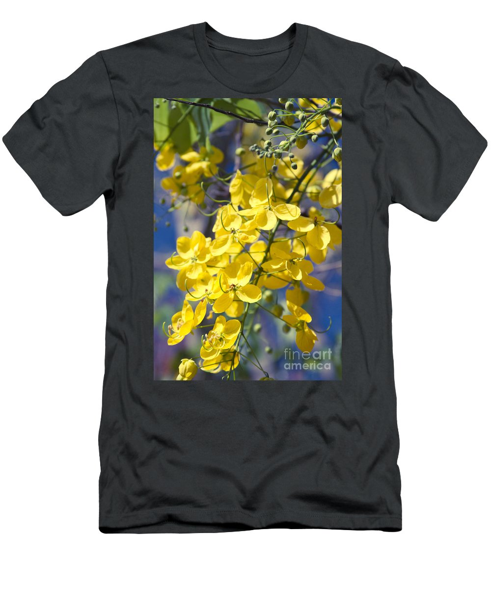 Aloha Men's T-Shirt (Athletic Fit) featuring the photograph Golden Shower Tree - Cassia Fistula - Kula Maui Hawaii by Sharon Mau