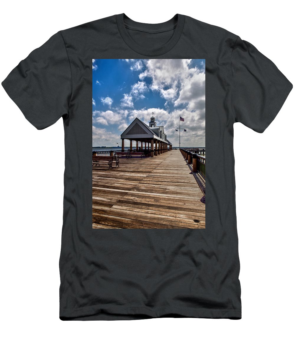 Landscape Men's T-Shirt (Athletic Fit) featuring the photograph Gone Fishing by Sennie Pierson