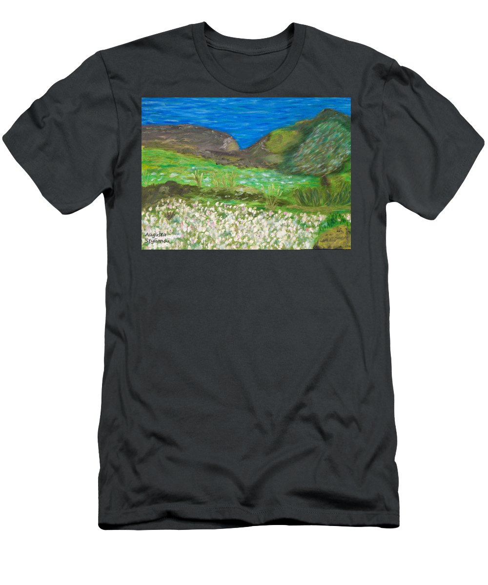 Gone With The Wind Men's T-Shirt (Athletic Fit) featuring the painting Gone With The Wind by Augusta Stylianou