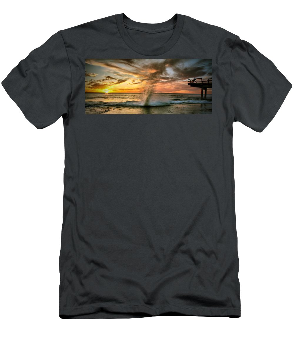 Sunset Men's T-Shirt (Athletic Fit) featuring the photograph Gotcha by Kym Clarke