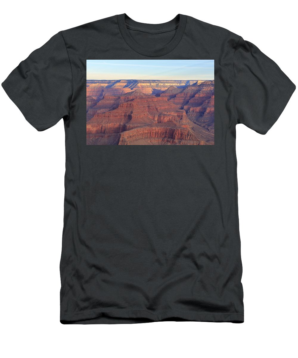 Nature Men's T-Shirt (Athletic Fit) featuring the photograph Grand Canyon Dawn 3 by Noa Mohlabane