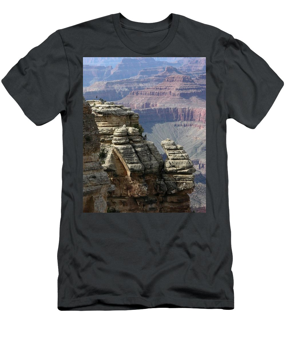 Grand Canyon Men's T-Shirt (Athletic Fit) featuring the digital art Grand Canyon by Igor Smolyar