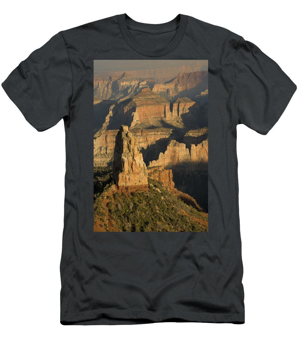 Feb0514 Men's T-Shirt (Athletic Fit) featuring the photograph Grand Canyon North Rim by Tom Vezo