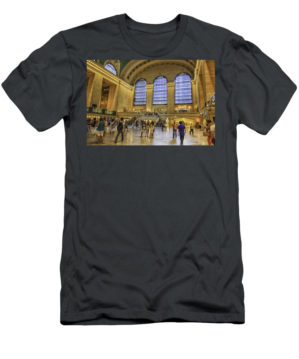 Railroad Men's T-Shirt (Athletic Fit) featuring the photograph Grand Central by Fran Gallogly