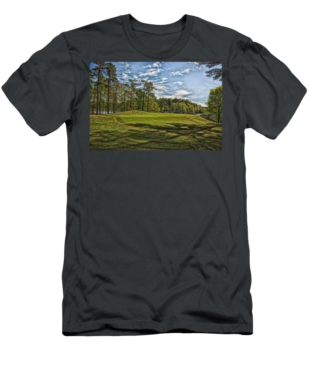 Opelika Men's T-Shirt (Athletic Fit) featuring the photograph Grand National Golf Course - Opelika Alabama by Mountain Dreams