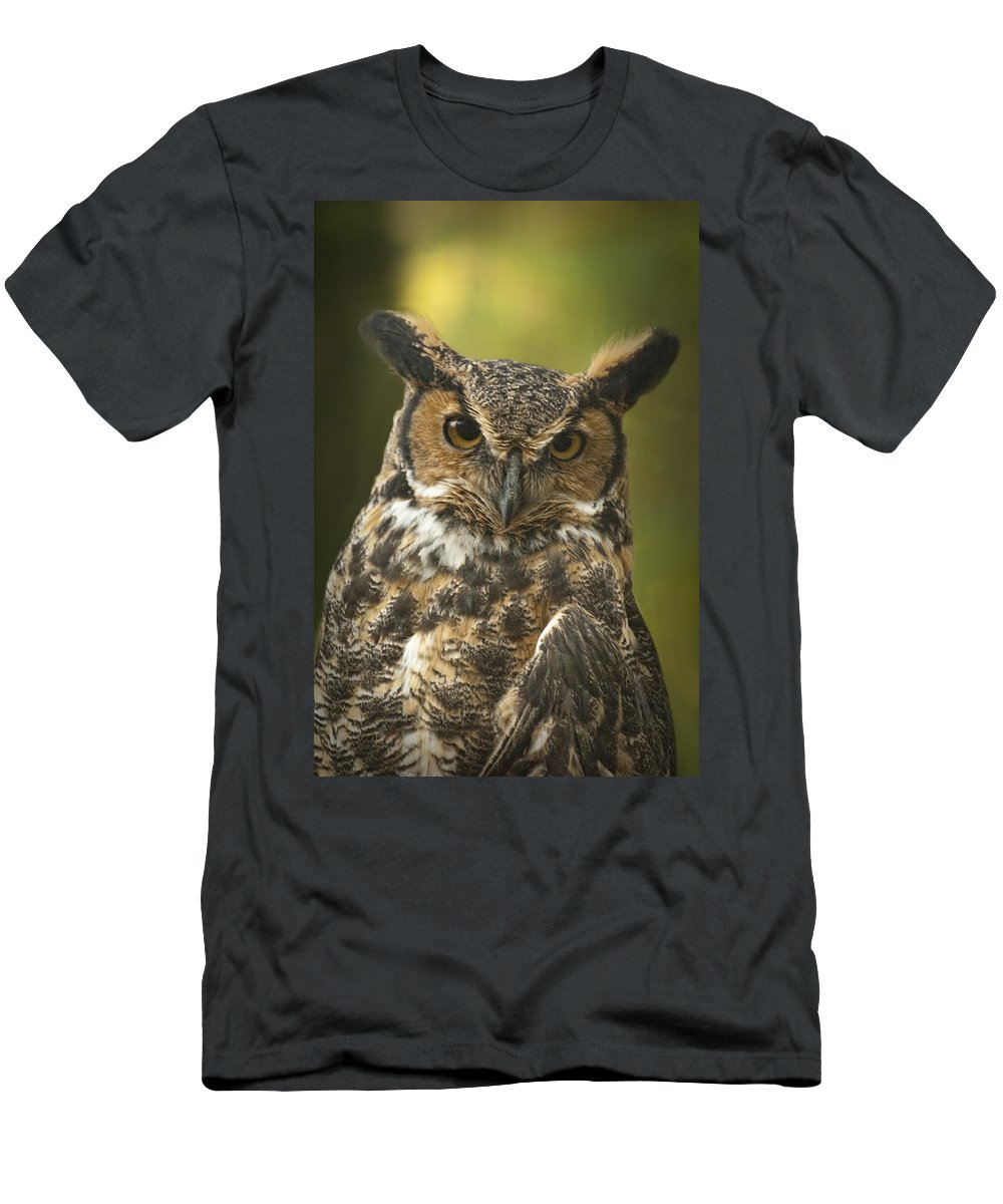 Art Men's T-Shirt (Athletic Fit) featuring the photograph Great Horned Owl by Randall Nyhof