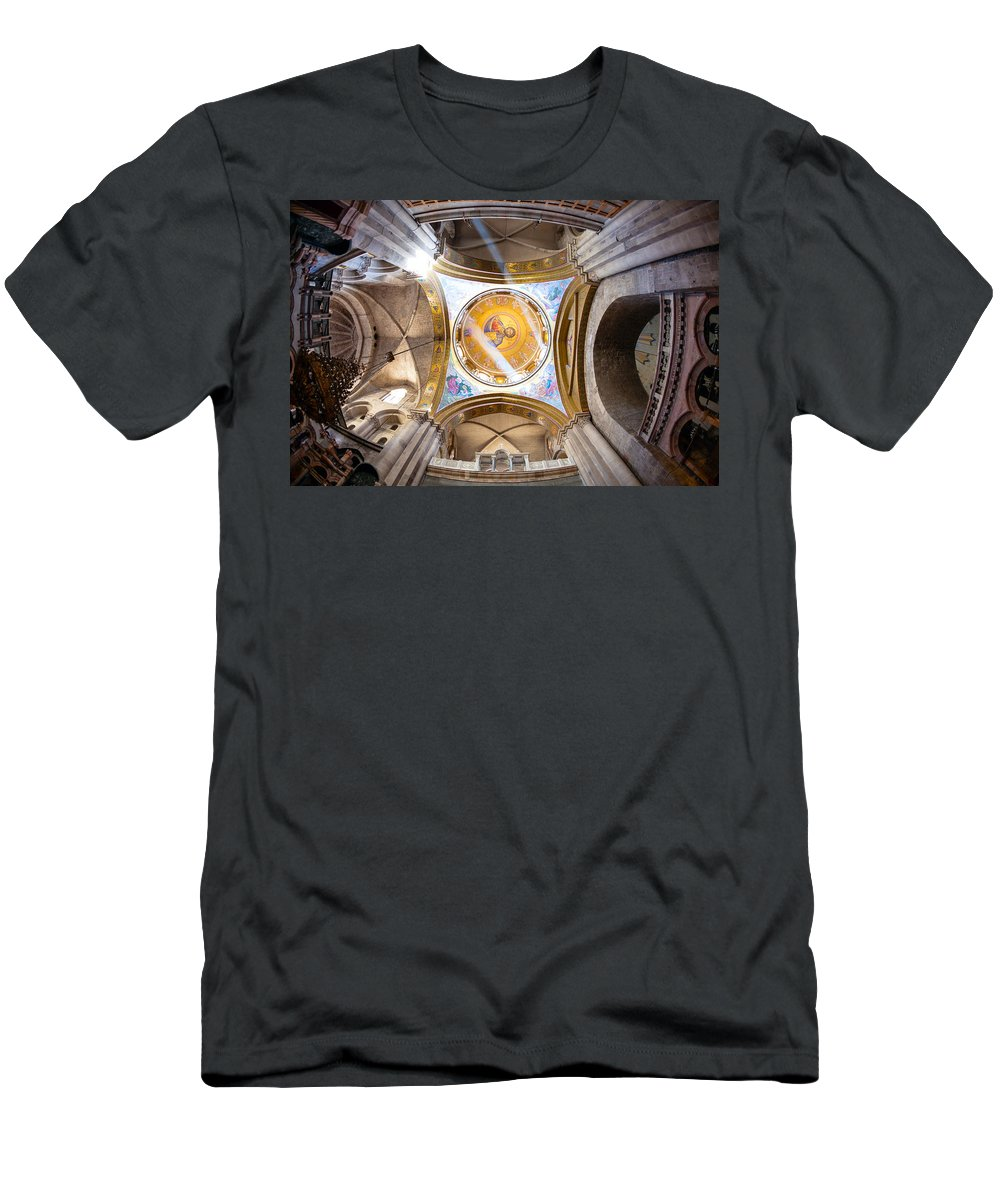 Chapel Men's T-Shirt (Athletic Fit) featuring the photograph Greek Chapel by Alexey Stiop