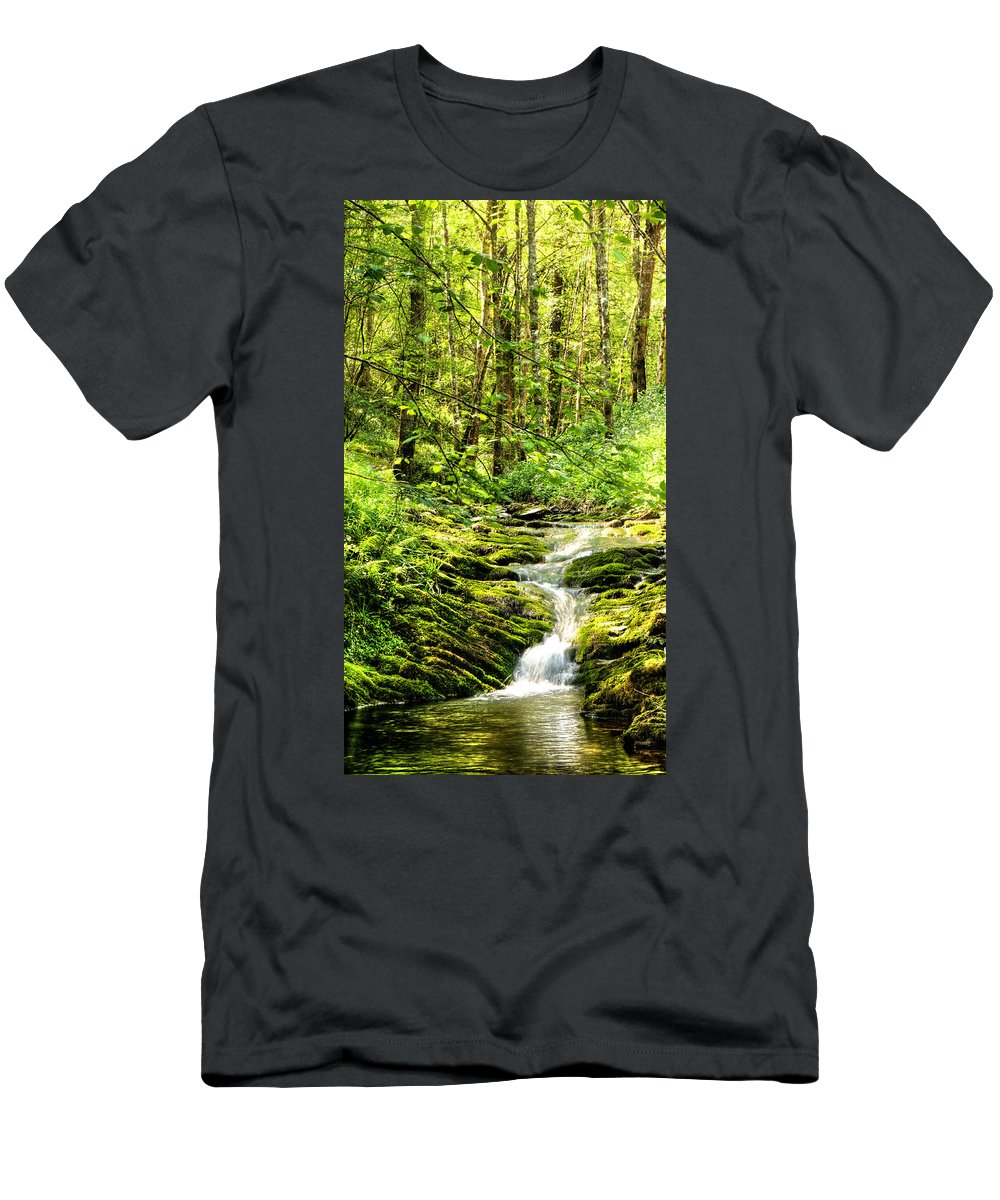 Forest Pond Men's T-Shirt (Athletic Fit) featuring the photograph Green River No2 by Weston Westmoreland