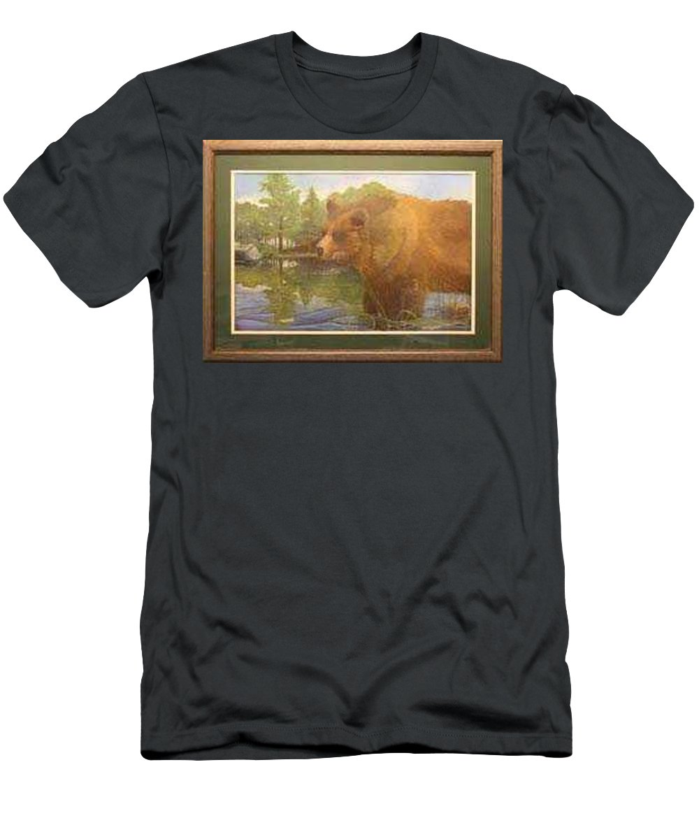 Rick Huotari T-Shirt featuring the painting Grizzly by Rick Huotari