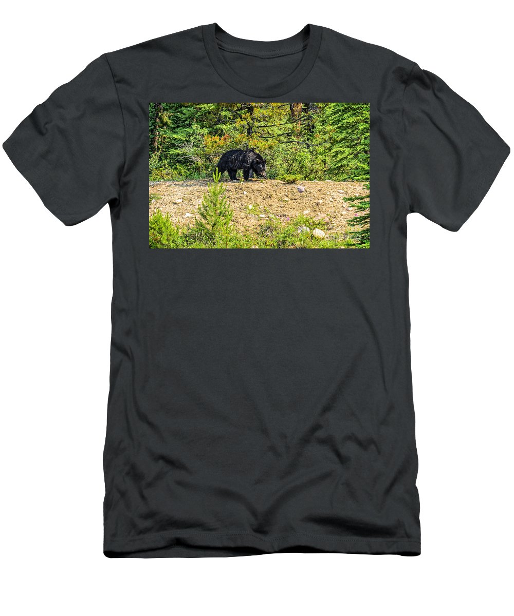 Grizzly Men's T-Shirt (Athletic Fit) featuring the photograph Grizzly by Viktor Birkus