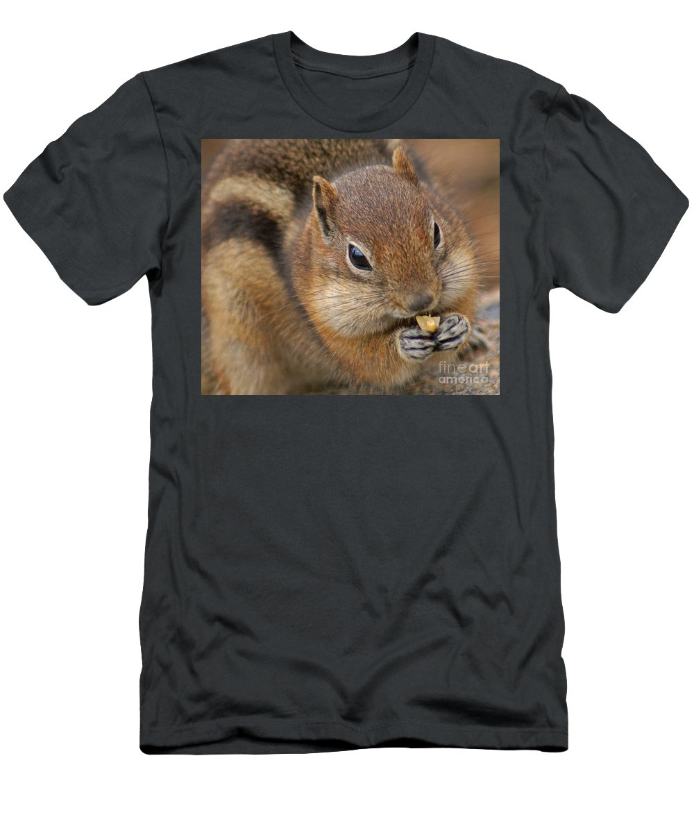 Ground Squirrel Men's T-Shirt (Athletic Fit) featuring the photograph Ground Squirrel by Heather Coen