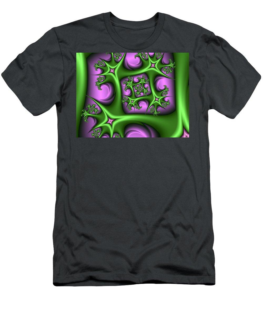 Digital Art Men's T-Shirt (Athletic Fit) featuring the digital art Growing by Gabiw Art